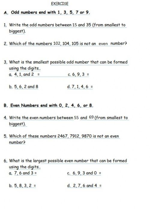 small resolution of Odd and even interactive worksheet