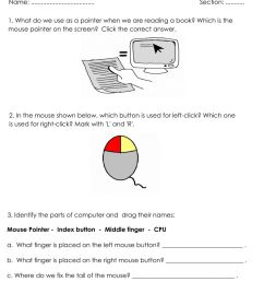 Grade1 - Operating a Mouse worksheet [ 1413 x 1000 Pixel ]