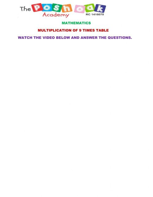 small resolution of Multiplication worksheet for Grade 1