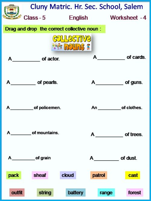 small resolution of Class 5 English worksheet - 4 worksheet