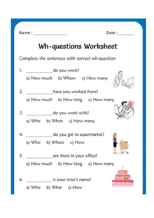 small resolution of WH Questions interactive activity for Grade 2