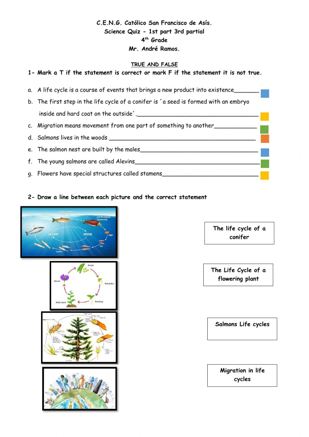 hight resolution of Science Quiz online worksheet