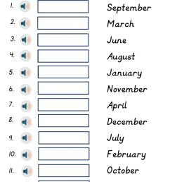 Months of the Year worksheet for Grade 2 [ 1413 x 1000 Pixel ]