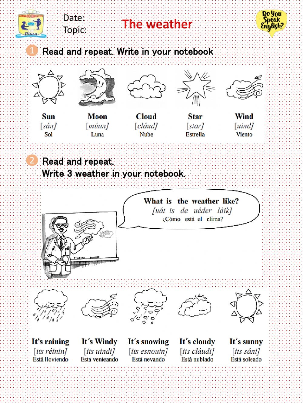 hight resolution of The Weather Grade 3 worksheet