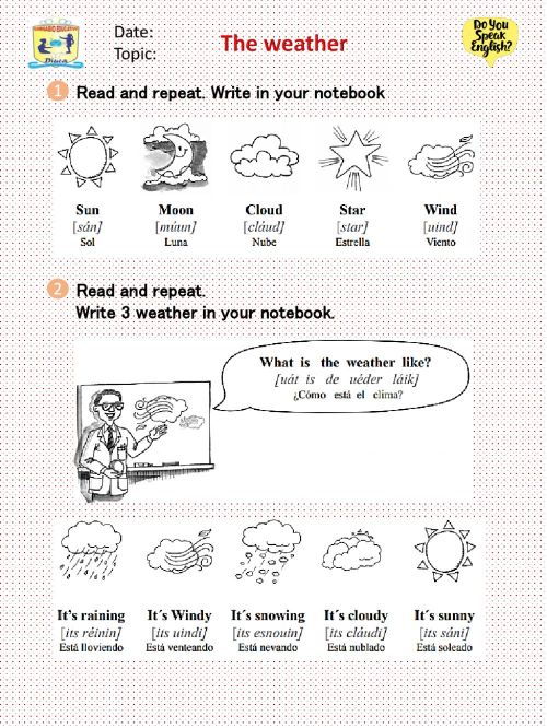 small resolution of The Weather Grade 3 worksheet