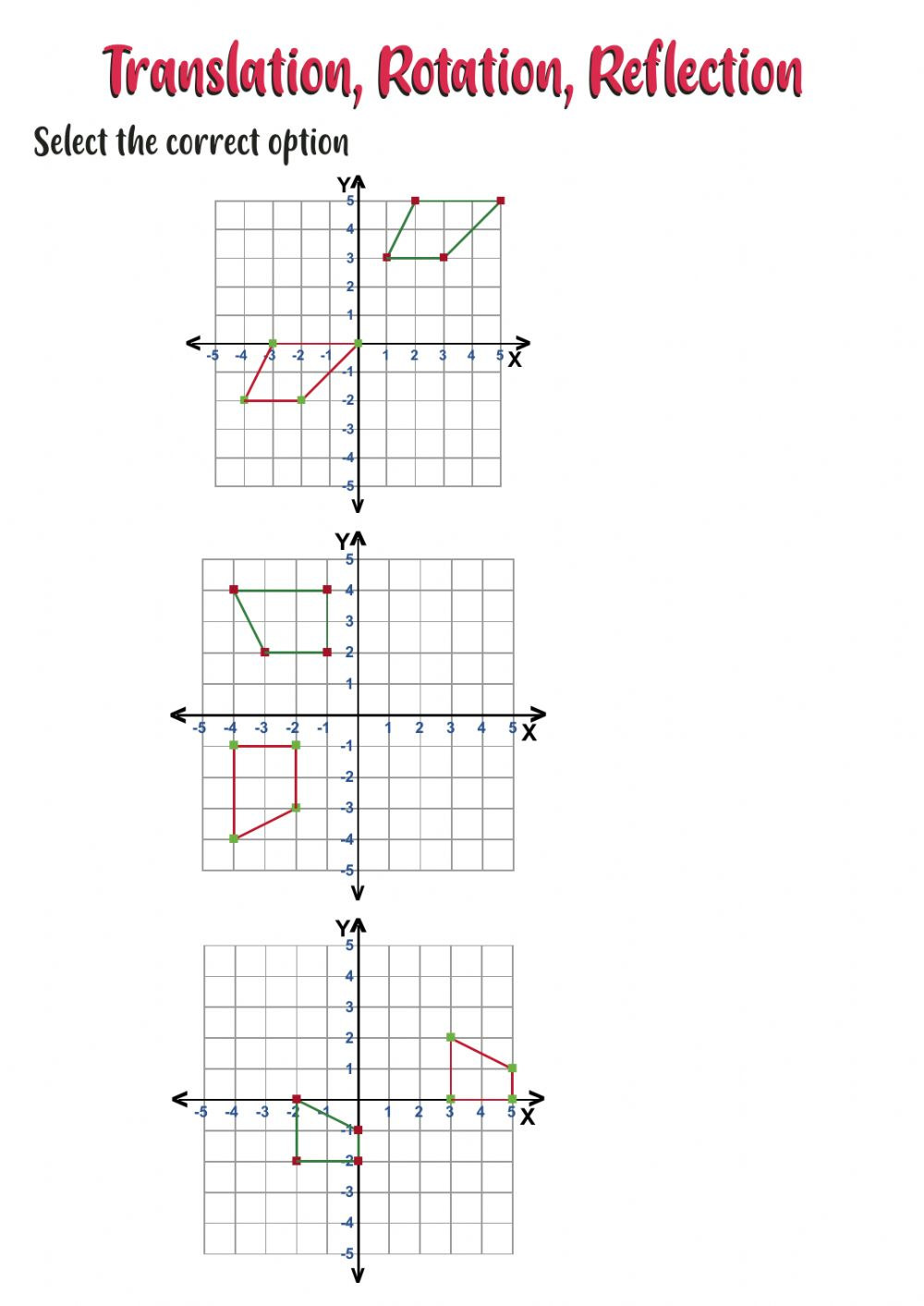 hight resolution of Transformations exercise