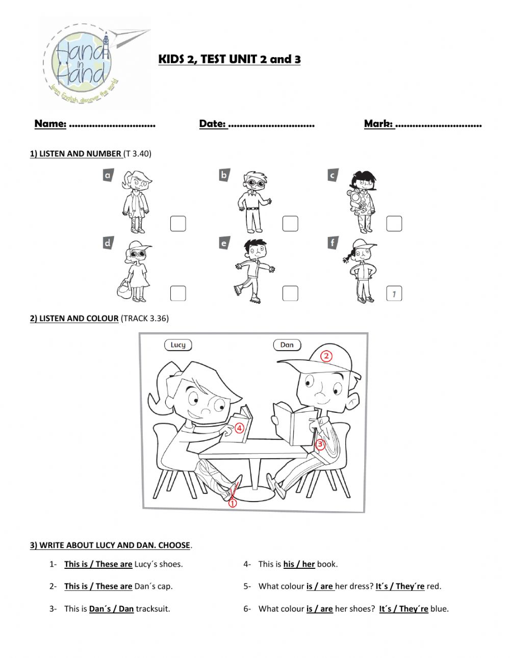 hight resolution of Test Unit 2 and 3 Incredible English 3 worksheet