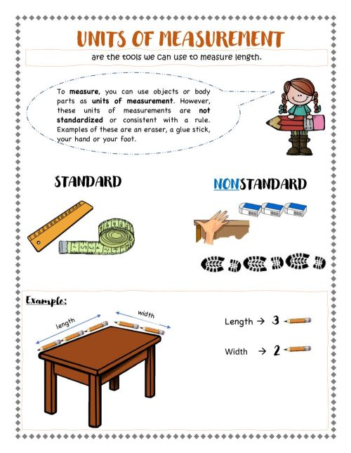 small resolution of Unit of measurement worksheet