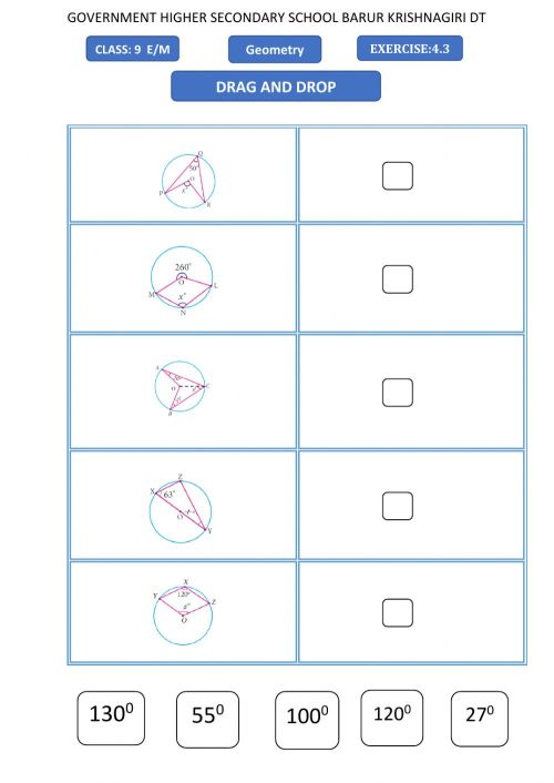 small resolution of 9th maths-geometry -drag and drop worksheet