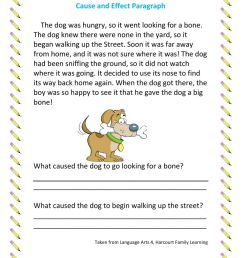 Cause and Effect Paragraph worksheet [ 1291 x 1000 Pixel ]