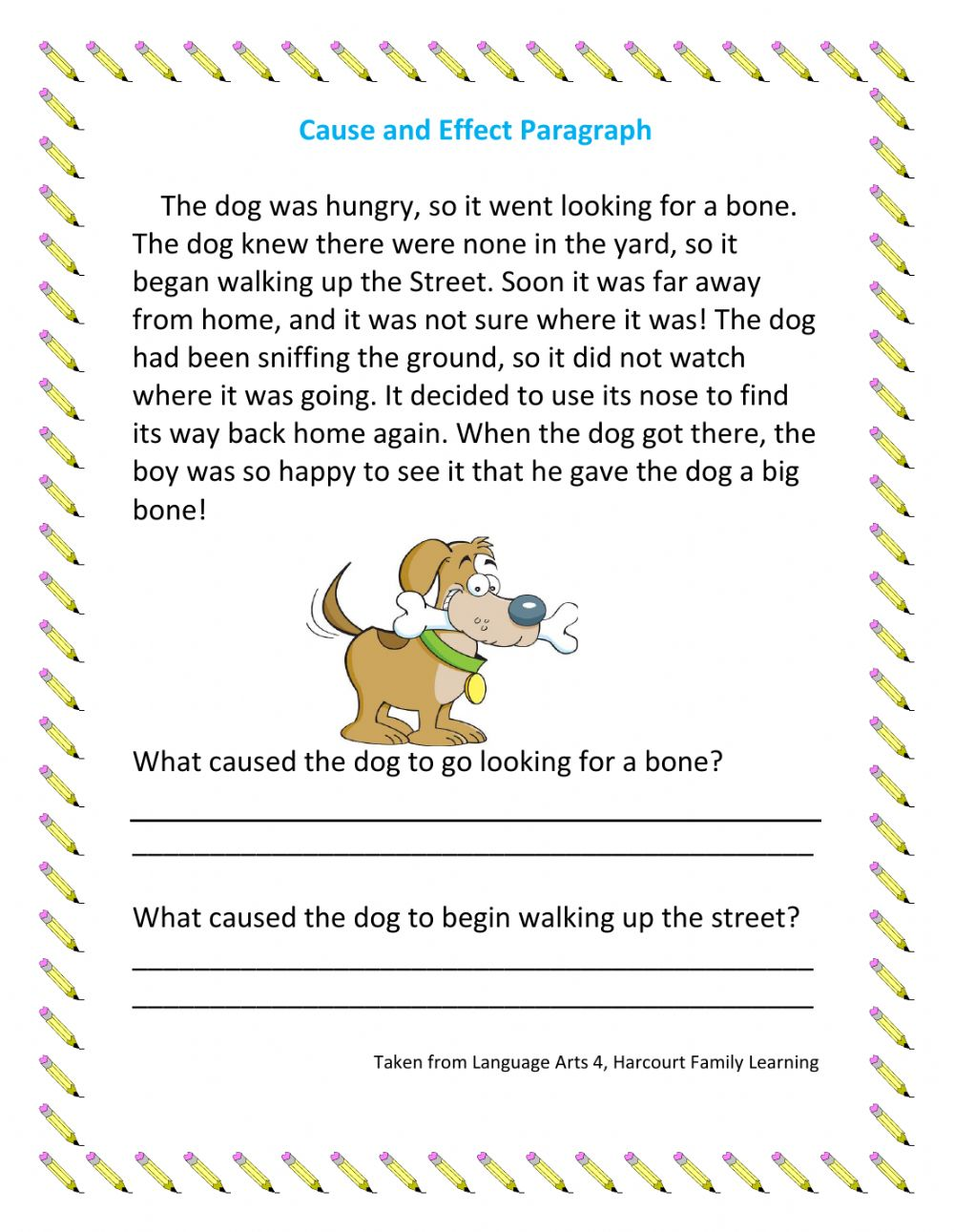 medium resolution of Cause and Effect Paragraph worksheet