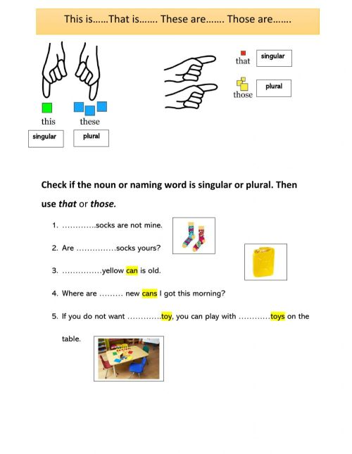 small resolution of Demonstrative pronoun interactive worksheet
