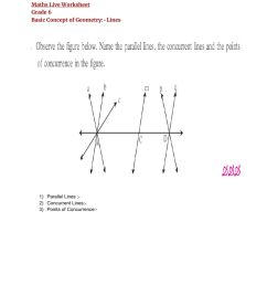 Basic Concept of Geometry:link worksheet [ 1291 x 1000 Pixel ]