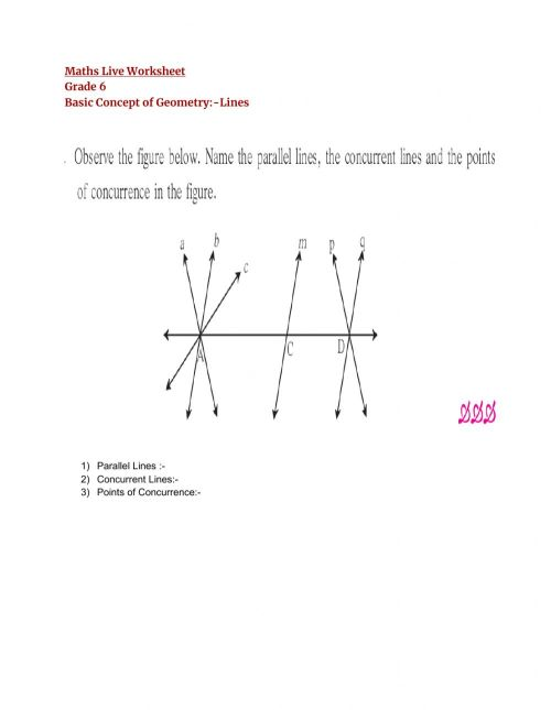 small resolution of Basic Concept of Geometry:link worksheet
