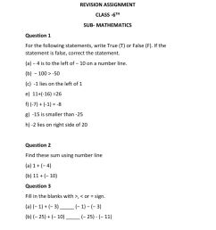 6TH INTEGERS worksheet [ 1291 x 1000 Pixel ]