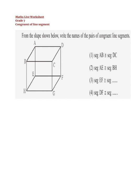 small resolution of Congruent of Line worksheet