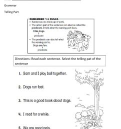 Telling Part Worksheet -1 worksheet [ 1291 x 1000 Pixel ]