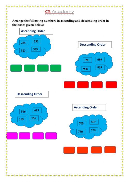 small resolution of 3-digit numbers interactive worksheet
