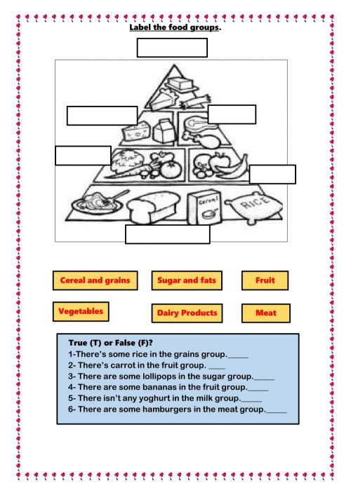 small resolution of Food online exercise for Grade 2