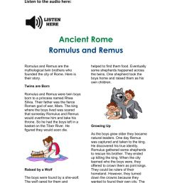 Romulus and Remus Activity worksheet [ 1413 x 1000 Pixel ]