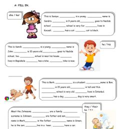 Possessive Adjectives online exercise for 5th Grades [ 1413 x 1000 Pixel ]
