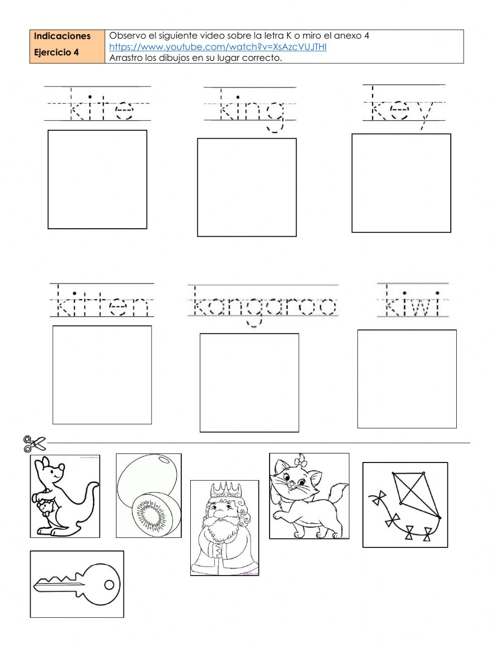 medium resolution of Letters k and w worksheet
