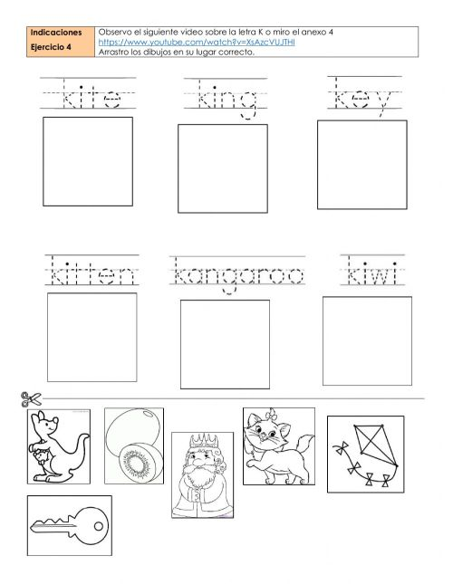 small resolution of Letters k and w worksheet