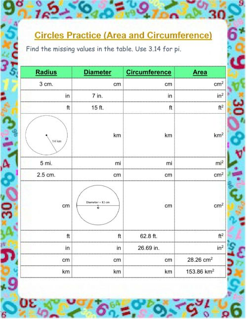 small resolution of Circumference and Area of Circles worksheet
