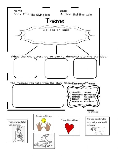 small resolution of Theme worksheet