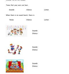 Sounds and Silence worksheet [ 1291 x 1000 Pixel ]