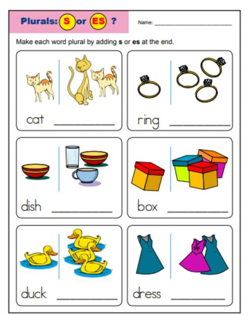 small resolution of plural interactive activity for Grade 1