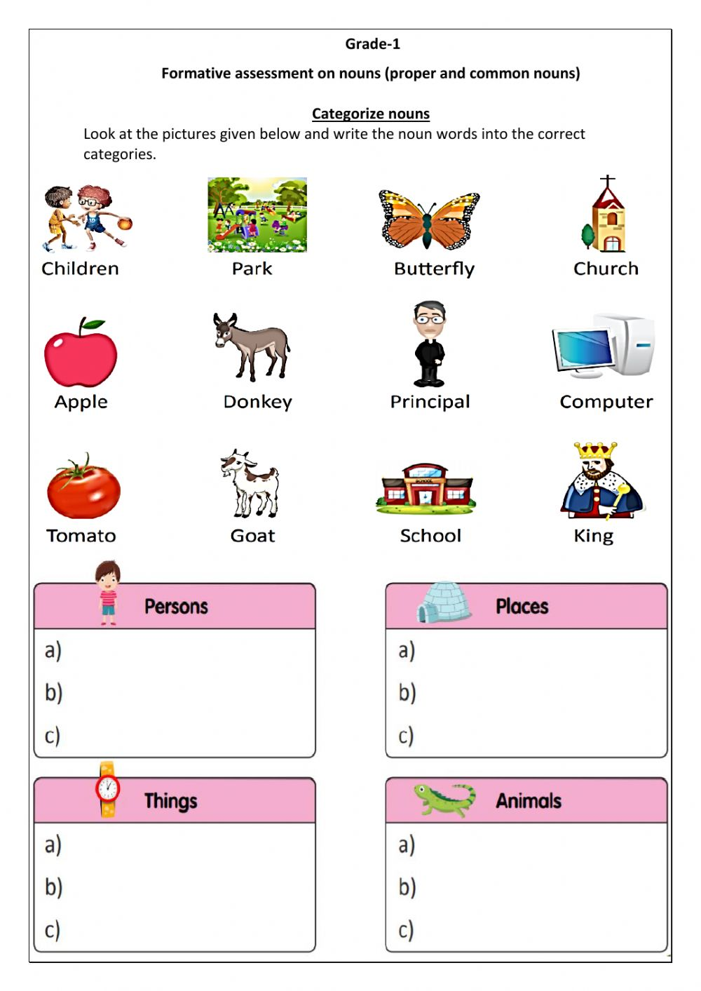 hight resolution of FA- Nouns (Group 2) worksheet
