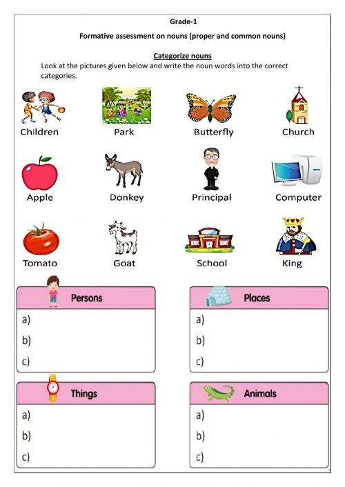 small resolution of FA- Nouns (Group 2) worksheet