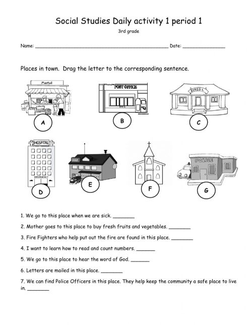 small resolution of Social Studies Daily activity 1 period 1 - Grade 3 worksheet