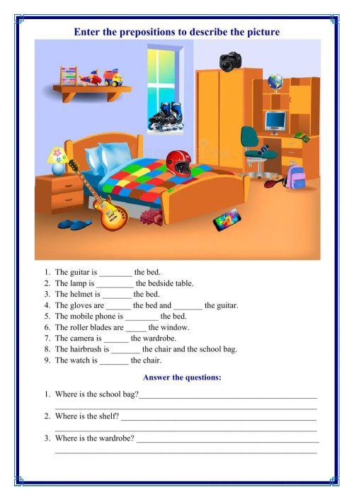 small resolution of Choose the correct preposition worksheet