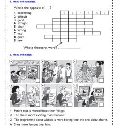Comparative adjectives online worksheet for 4th grade [ 1414 x 1000 Pixel ]