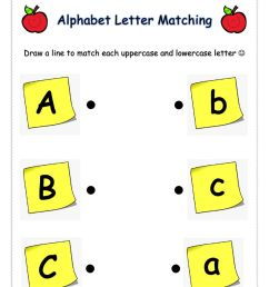 Letter Matching (ABC) worksheet [ 1291 x 1000 Pixel ]