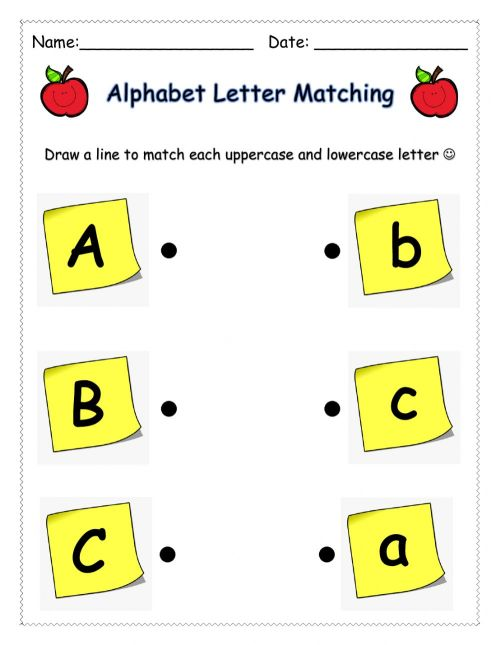 small resolution of Letter Matching (ABC) worksheet