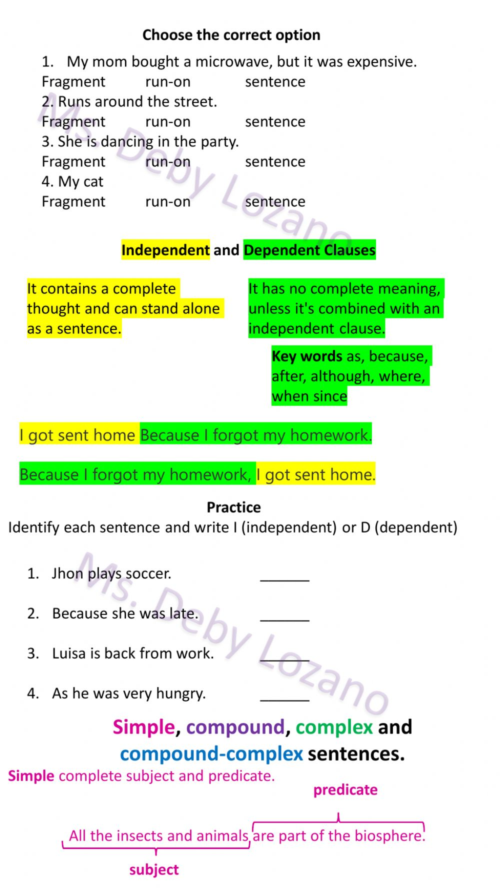 medium resolution of Grammar online exercise for 6th