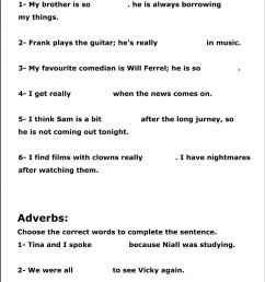 Adjectives and adverbs worksheet ( 9th grade) worksheet [ 2385 x 1000 Pixel ]