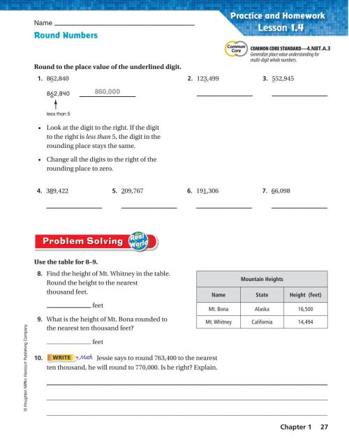 small resolution of Round Numbers worksheet
