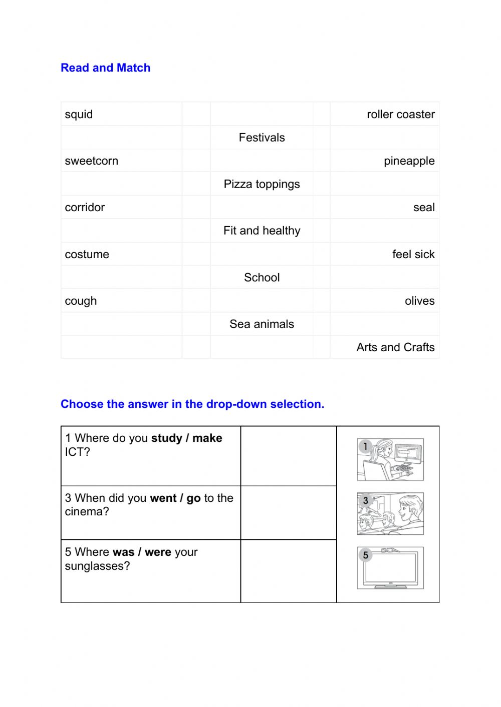 hight resolution of Reading and vocabulary 3rd grade review worksheet