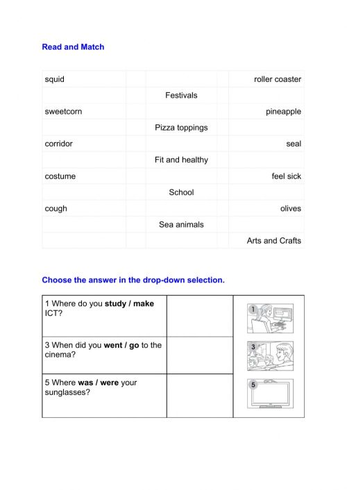 small resolution of Reading and vocabulary 3rd grade review worksheet