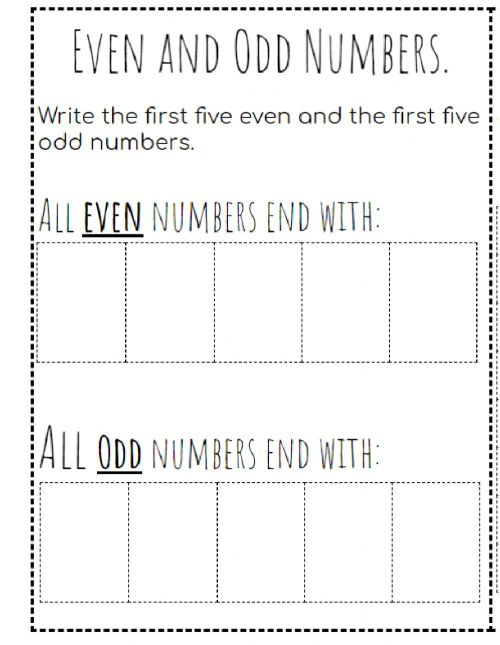 small resolution of Even and Odd numbers interactive worksheet
