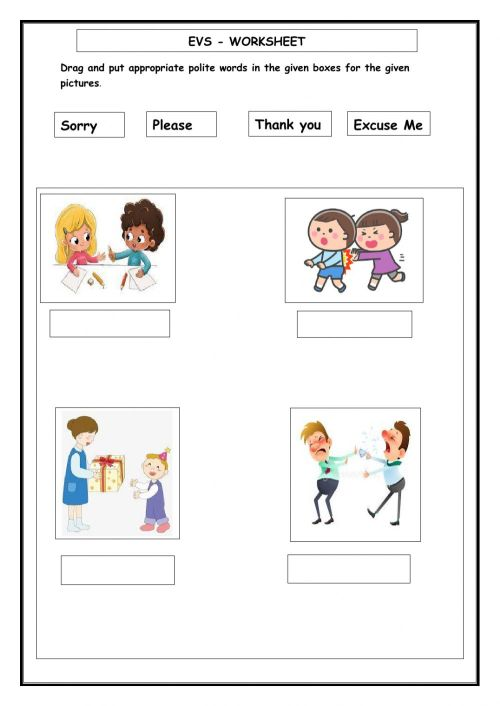 small resolution of EVS -Good Manners worksheet