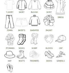 Clothes online exercise for Grade 3 [ 1413 x 1000 Pixel ]