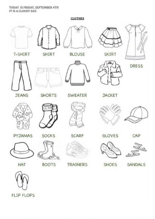 small resolution of Clothes online exercise for Grade 3