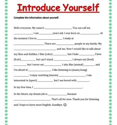 Introduce yourself interactive exercise [ 1291 x 1000 Pixel ]