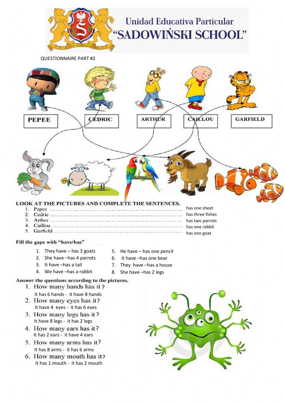 hight resolution of Review second grade worksheet