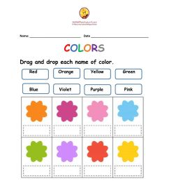 Colors online exercise for Grade 1 [ 1291 x 1000 Pixel ]